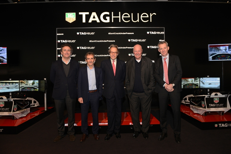 Tag Heuer A.Agag, A.Prost, Lord March, JC Biver, R.de Vries