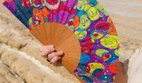 Abanicos de seda natural pintados a mano