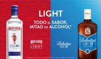 Ballantines y Beefeater bajo en alcohol